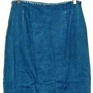L.L. Bean Skirts - Vintage Boho Long Denim Wrap Skirt Size 8 28x34